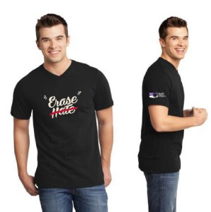 Erase Hate Shirt, Black, V-neck