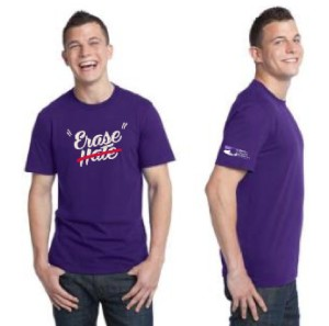 Erase Hate Shirt, Purple