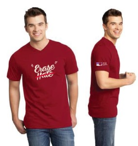 Erase Hate Shirt, Red