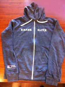 Erase Hate Zip-Up Hoodie, Gray