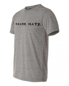 Erase Hate Triblend, Gray