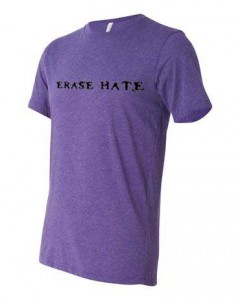 Erase Hate Triblend, Purple