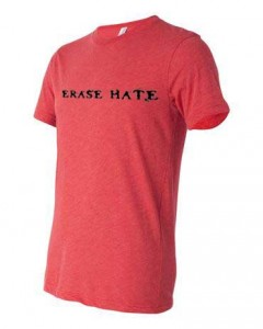 Erase Hate Triblend, Red